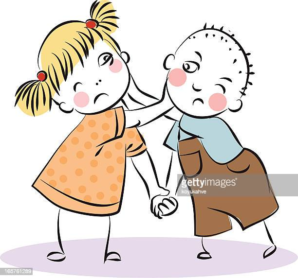 drama - family fighting cartoon stock illustrations
