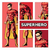 Draw of Superhero cartoon, vector illustration