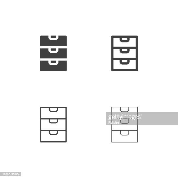 drawer icons - multi series - handle stock illustrations
