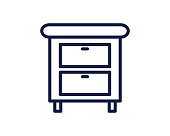 drawer line icon illustration vector , drawer line icon illustration design