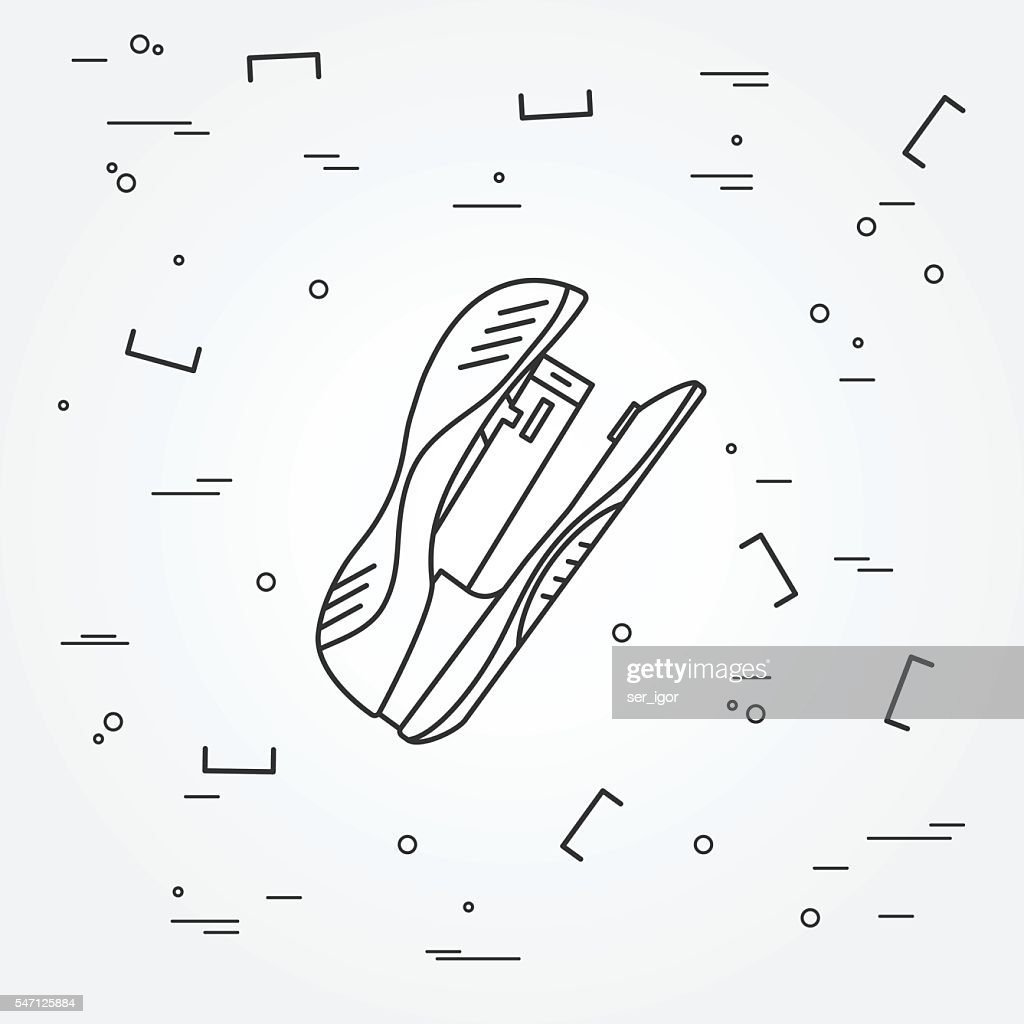 Drawing and writing tools icon thin line