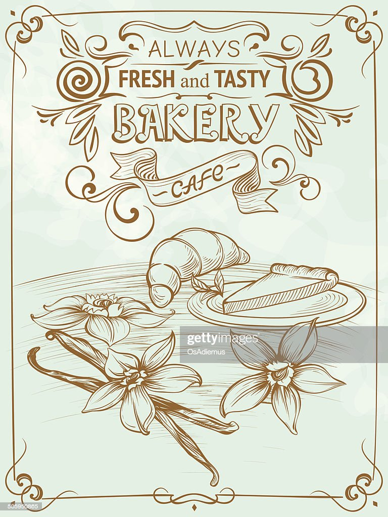Drawing Bakery Placard