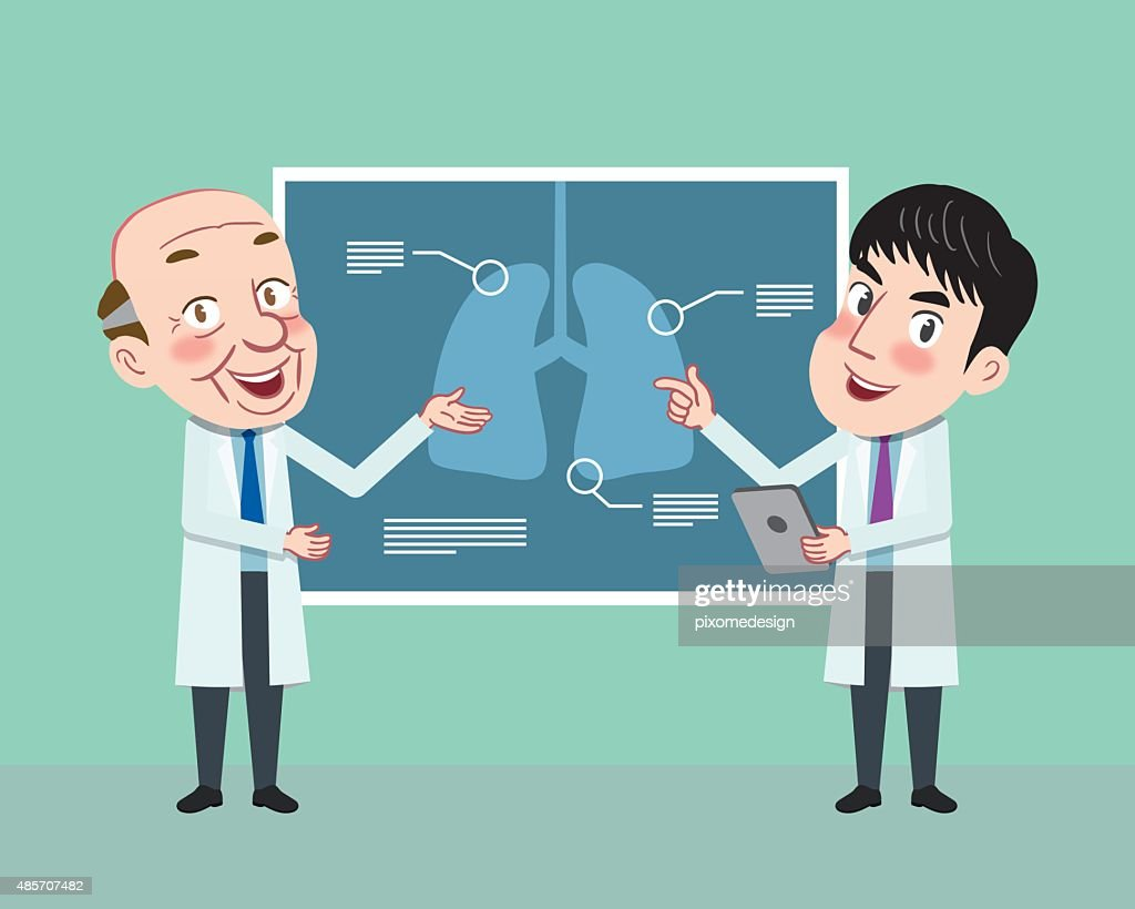 Drawing flat character design medical doctor concept