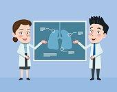 Drawing flat character design medical doctor concept ,vector illustration