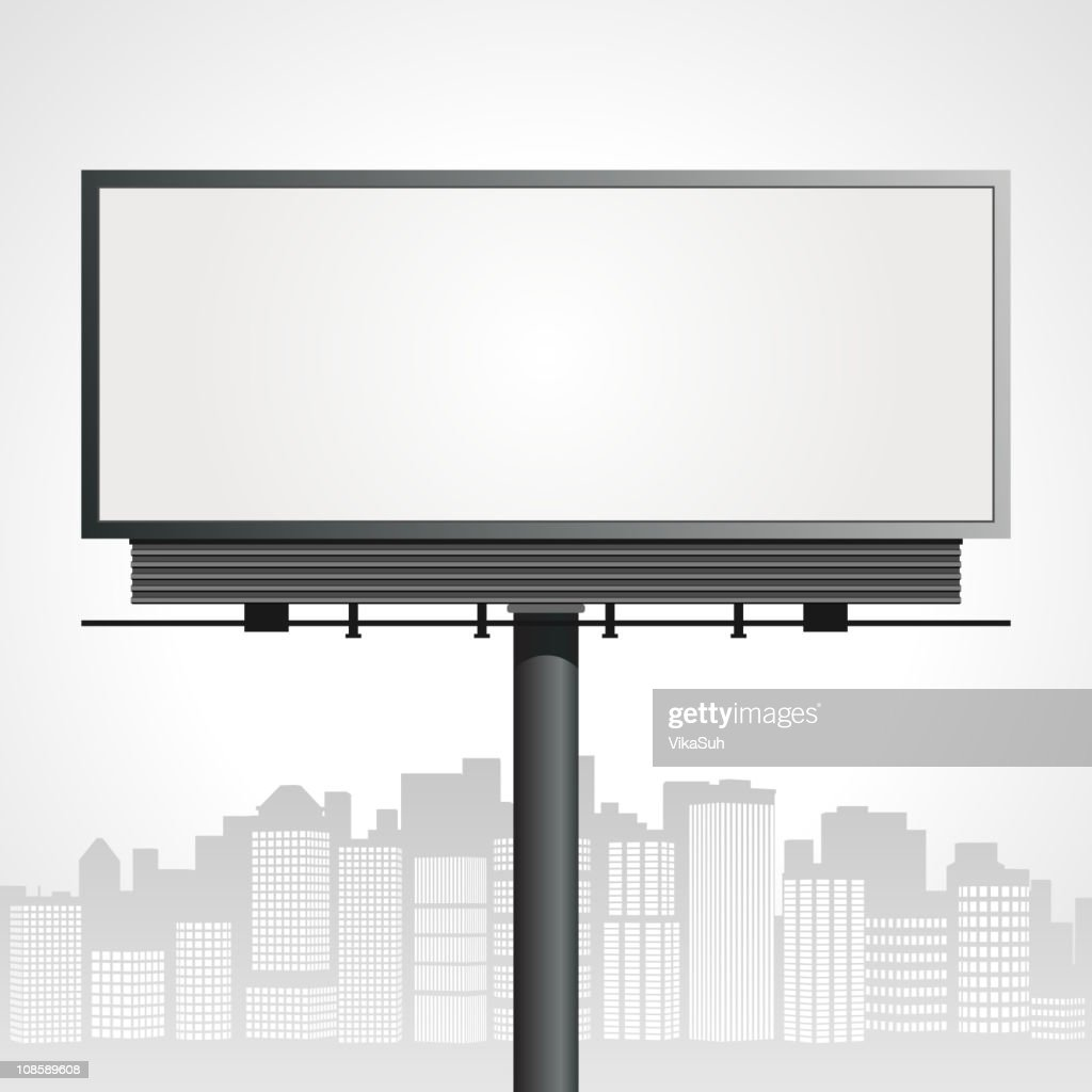 Drawing of a billboard in an urban surrounding