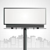 Drawing of a billboard in an urban surrounding