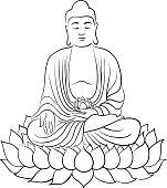 Drawing of a Buddha statue