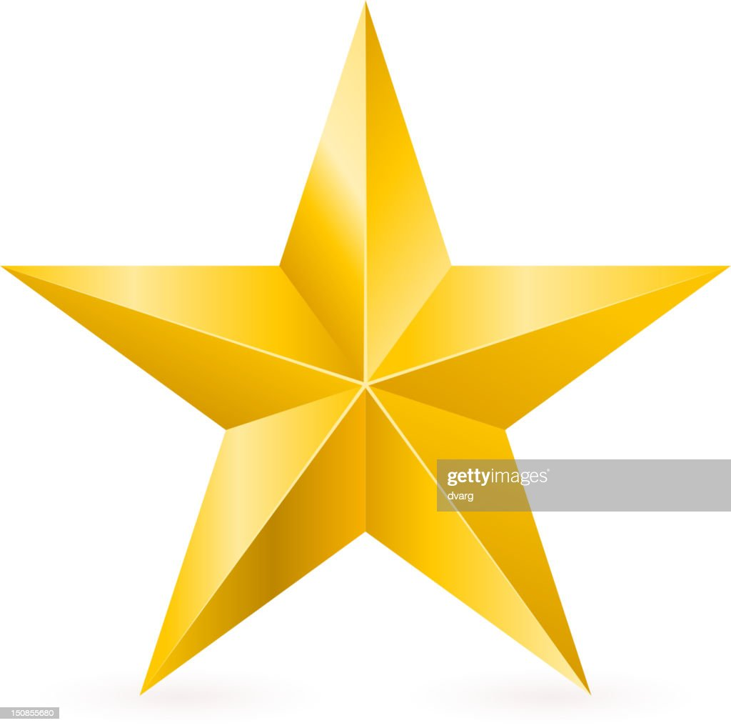 3d drawing of a shiny gold star vector art getty images