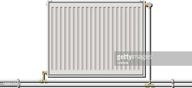 a drawing of a white wall mounted radiator - radiator heater stock illustrations, clip art, cartoons, & icons