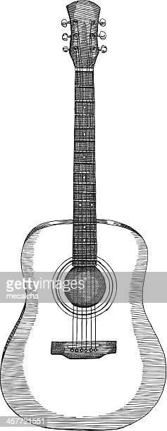 ilustrações, clipart, desenhos animados e ícones de accoustic guitarra - violão