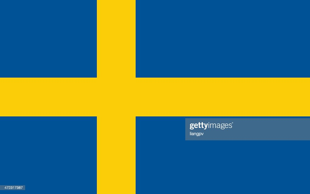 Drawing Of Blue And Yellow Flag Of Sweden Vector Art Getty Images