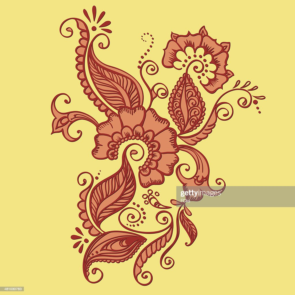 Drawing Of Henna Vector Art Getty Images