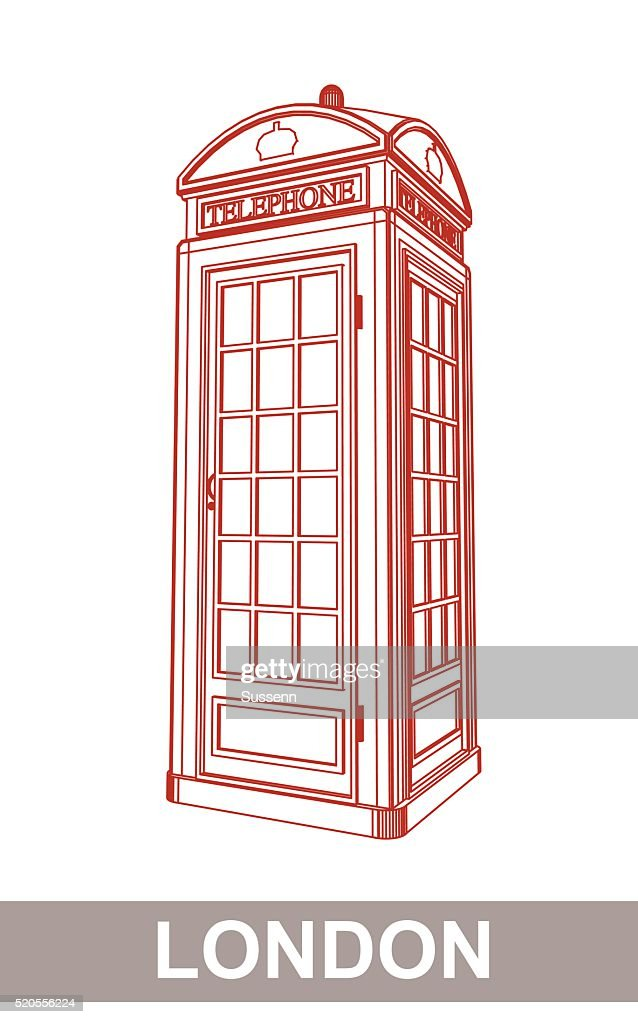 Drawing of Red Booth