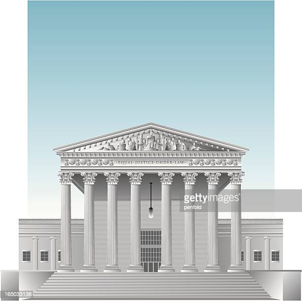 drawing of the us supreme court - us supreme court building stock illustrations