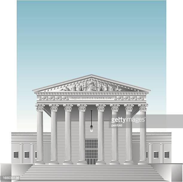 ilustrações, clipart, desenhos animados e ícones de nós supremo tribunal - pediment