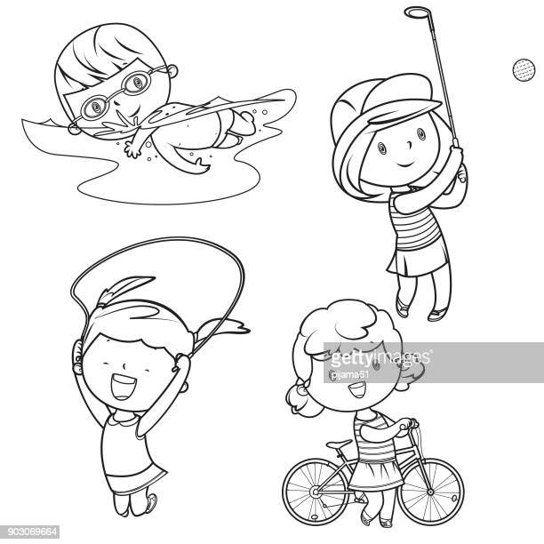 drawing sport kids