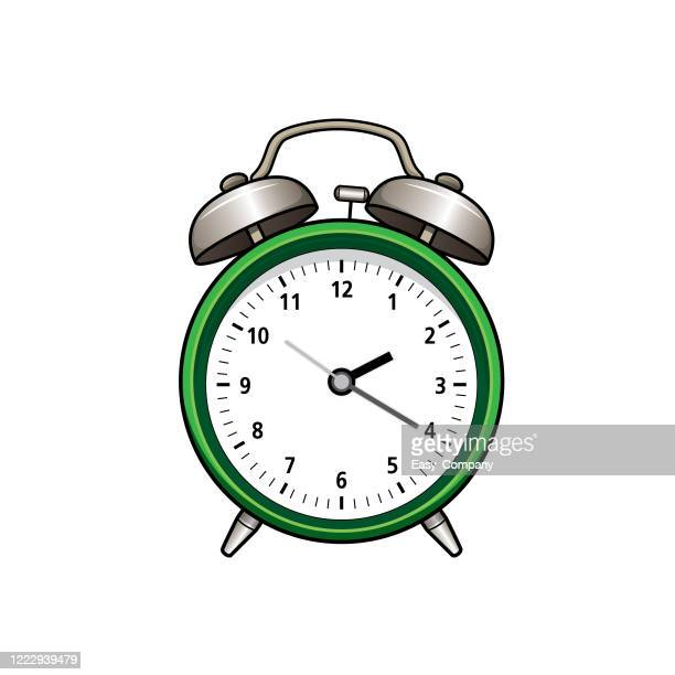 ilustrações de stock, clip art, desenhos animados e ícones de drawing the flat design of clock into a white background for assembling or creating teaching materials for moms doing homeschooling and teachers searching for pictures for teaching materials such as flashcards or children's books. - acordar