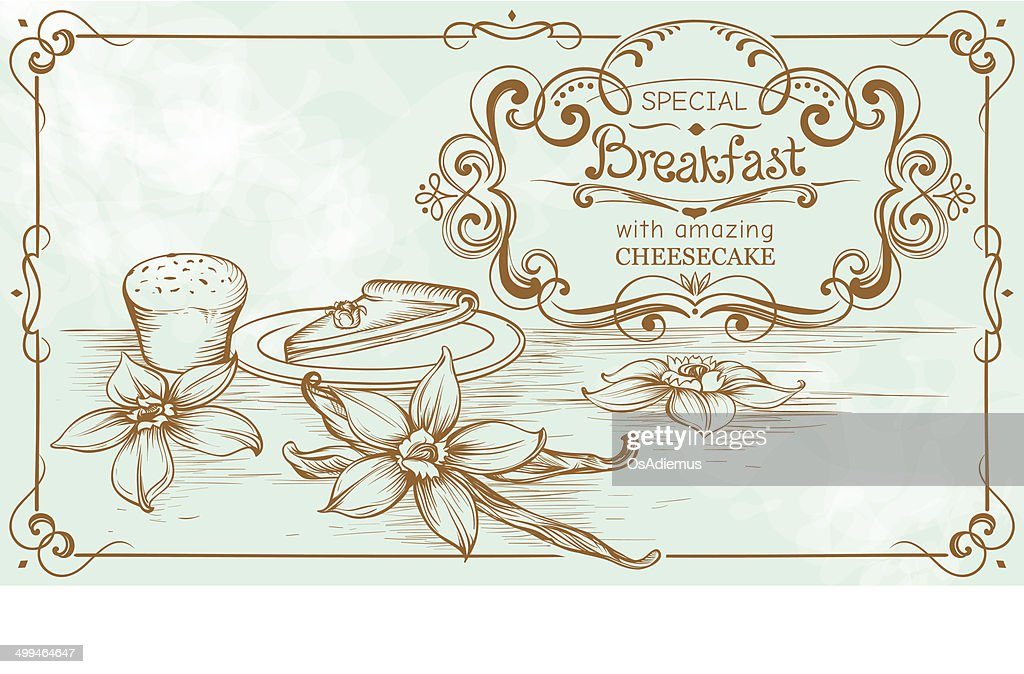 Drawing Vintage Banner on Bakery