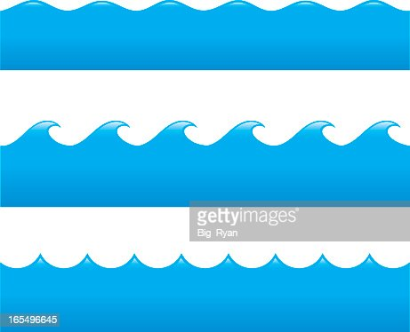 Drawings Of Different Types Of Ocean Waves Vector Art ...