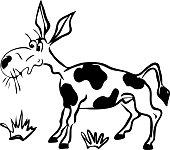 drawn cartoon comical donkey