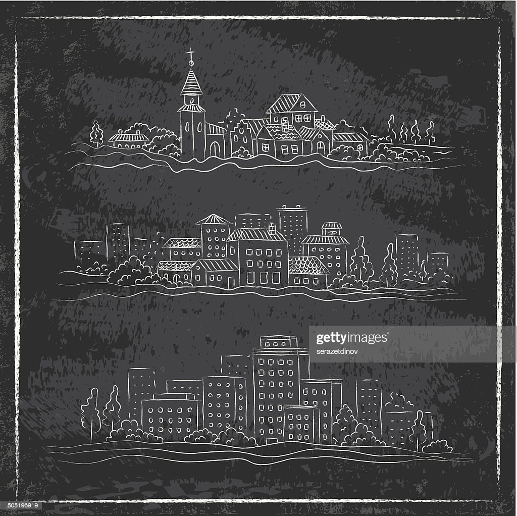 drawn city