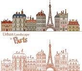 Drawn Cityscape in Paris