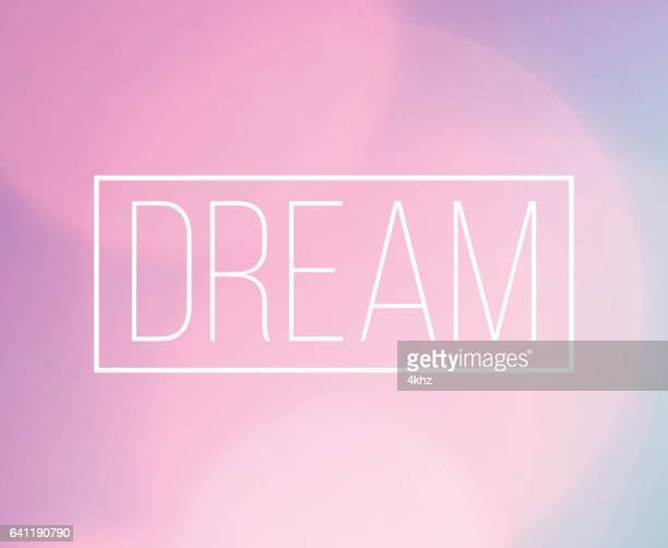 dream word frame with bokeh light background - ethereal stock illustrations, clip art, cartoons, & icons