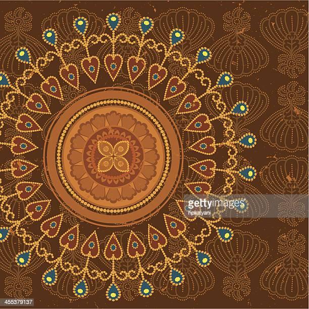 dreamscape - batik - batik stock illustrations