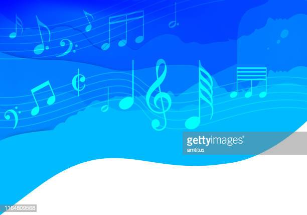 dreamy music - musical note stock illustrations