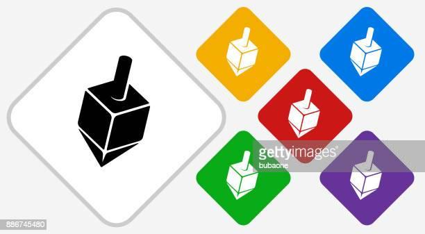 dreidel color diamond vector icon - dreidel stock illustrations, clip art, cartoons, & icons