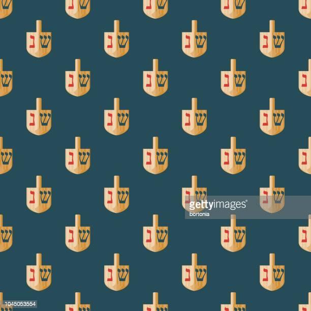 dreidel hanukkah seamless pattern - dreidel stock illustrations, clip art, cartoons, & icons