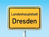 Dresden German City Road Sign