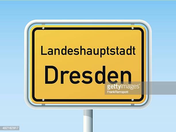 Dresden deutsche City Road Sign