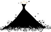 Dress black on hander, vector illustration