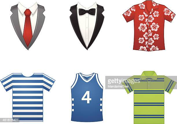 dress code - hawaiian shirt stock illustrations