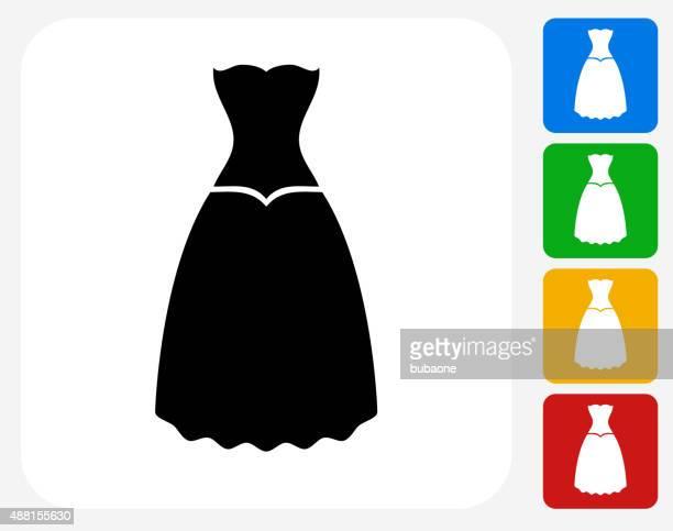 Kleid Symbol flache Grafik Design