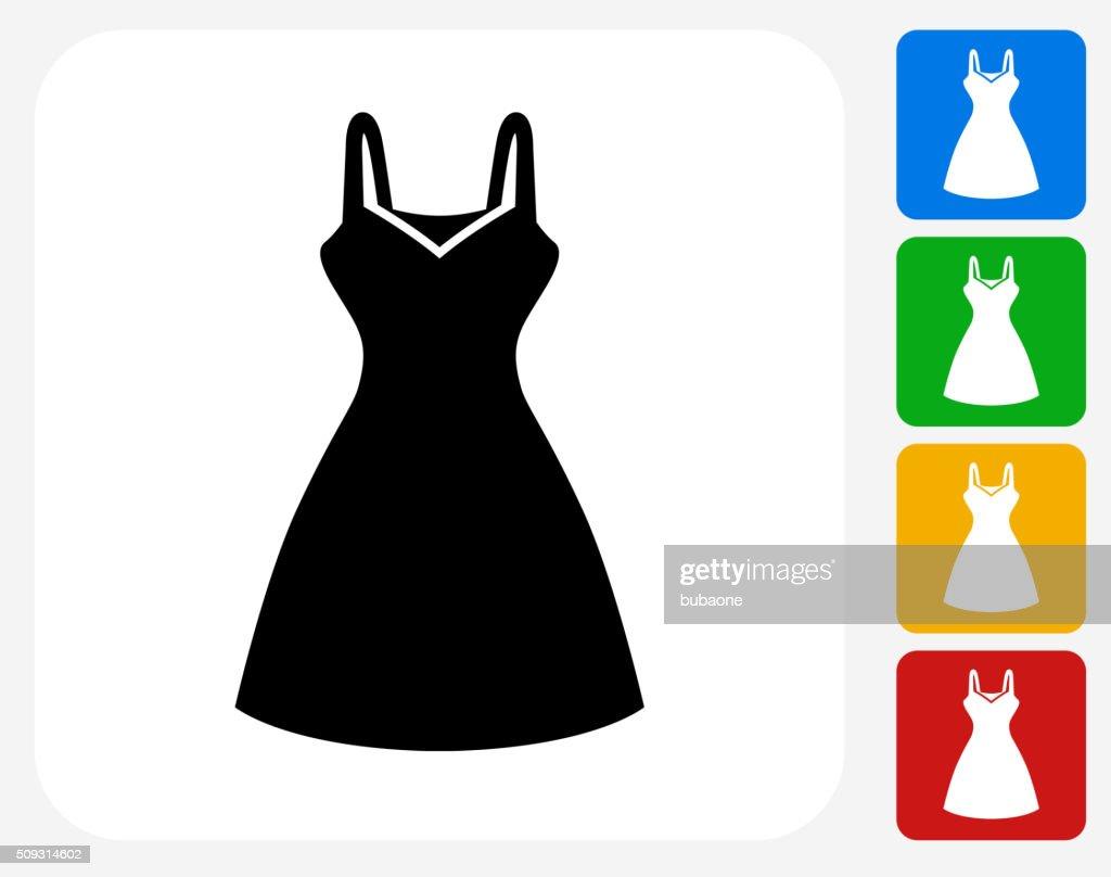 Dress Icon Flat Graphic Design