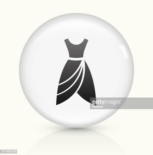 Dress icon on white round vector button