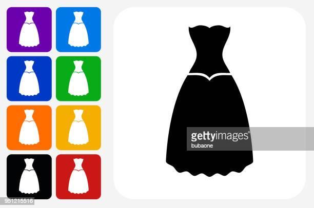 Kleid-Symbol Square Buttonset
