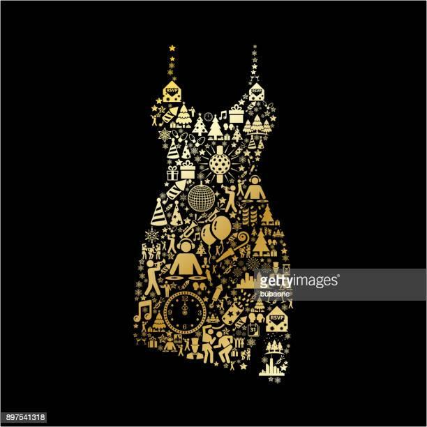 Dress  New Year Golden Celebration Party