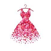 Dress of pink petals