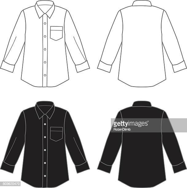 dress shirts - all shirts stock illustrations