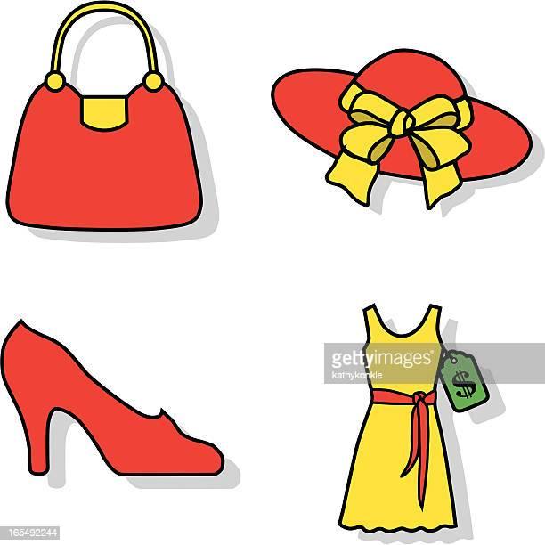 dress shopping icons