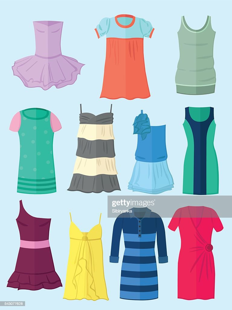 Dresses in flat design