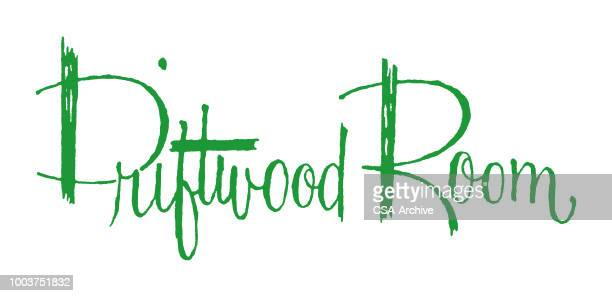 driftwood room - driftwood stock illustrations