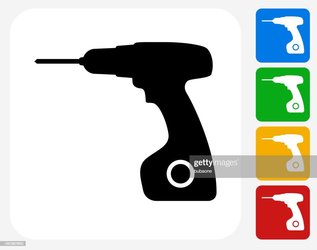 Drill Icon Flat Graphic Design