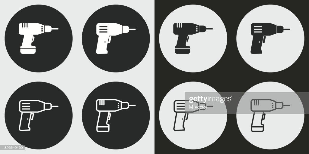 Drill icon set.