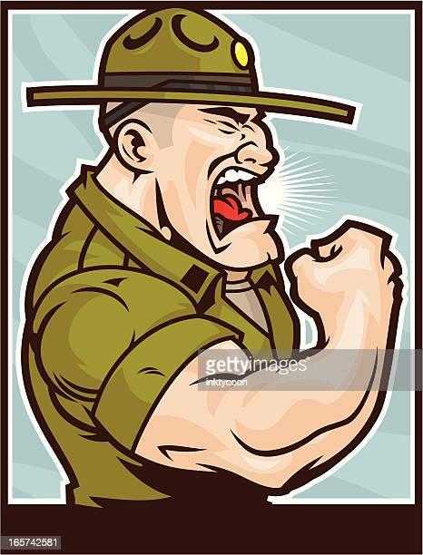 Drill Sergeant Flexing