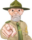 Drill Sergeant Pointing