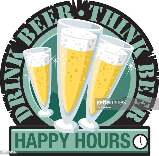 drink beer think beer - artisanal food and drink stock illustrations, clip art, cartoons, & icons